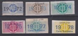 PETI LOT 6 VIGNETTES  DE COTISATION - AUTOMOBILE CLUB DE L' ILE DE FRANCE - Commemorative Labels