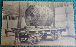 Cpa - Belgique - Corderies Et Câbleries Baudewyns - Rue Des Ateliers à Gilly N 15 Wagon Bobine Cables - Collections