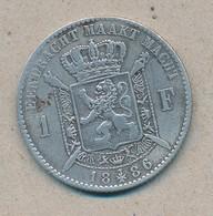 België/Belgique 1 Fr Leopold II 1886 Vl Morin 178 (70397) - 1865-1909: Leopold II