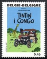 Belgium 2007 COB 3637 Mi. 3685 MNH, Tintin In The Congo (Danish) By Hergé, Giraffe, Car - Fumetti