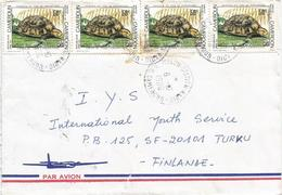 Cameroon Cameroun 1989 Melon Station Radio Hinge-back Tortoise Kinixys Cover. Rare - Kameroen (1960-...)