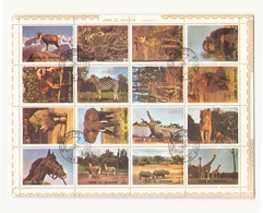 Arabie Sud Um Al Qiwain 1979 Feuille Animaux - Timbres