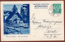 YUGOSLAVIA-SLOVENIA, POHORJE-MOUNTAIN,RATECE-LJUBLJANA RAILWAY 5th EDITION ILLUSTRATED POSTAL CARD - Postal Stationery