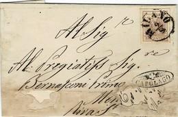 1856,sehr Seltener Strahlen-Stp. Als Ankunft -Mängel  ,   #9250 - Briefe U. Dokumente