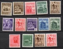 1944 Repubblica Sociale RSI Monumenti Distrutti I - 496 - 99 E II 502 - 14 Integri MNH** - 1944-45 République Sociale