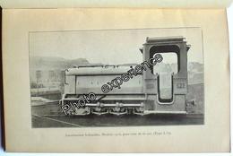 Livre Manuel Technique Plan SCHNEIDER Train Locomotive Decauville 1916 WW1 - Machines