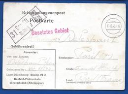 POSTKARTE Prisonnier De Guerre    Stalag WJ  Du 13-12-1940 - Documents