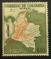 COLOMBIA 1954 Air $10 MNH - Colombia