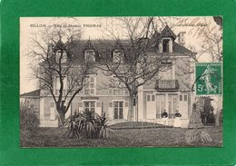 63 - Billom - Villa Du Docteur Thomas .animation CPA Année 1914  Editeur Imbert Aubier - France