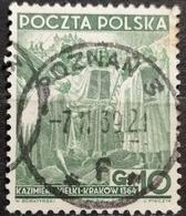 KING KAZIMIERZ III WIELKI-KRAKAU-10 GR-POSTMARK POZNAN-POLAND-1938 - 1919-1939 Republic