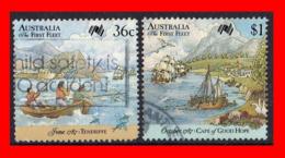 AUSTRALIA (OCEANIA) 2 SELLOS AÑO1987 II CENTENARIO DE LA COLONIZACIÓN DE AUSTRALIA. - 1980-89 Elizabeth II