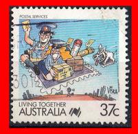 AUSTRALIA (OCEANIA)  SELLO AÑO 1988 II CENTENARIO DE LA COLONIZACIÓN DE AUSTRALIA. LA VIDA JUNTOS. - 1980-89 Elizabeth II