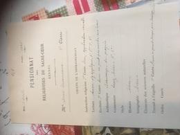 RENNES 1905 Bulletin Scolaire - Diplômes & Bulletins Scolaires