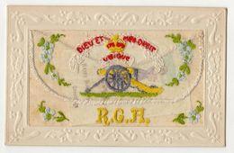 ROYAL GARRISON ARTILLERY SILK EMBROIDERED VINTAGE POSTCARD WITH INSERT #90757 - Régiments