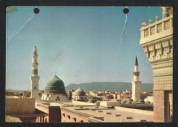Saudi Arabia Old Picture Postcard One Side Holy Mosque Medina Madina Islamic View Card - Arabie Saoudite