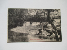 CPA Gijon Rio Vinao Palsaje  Lavandière Vache Chêvre  1919 - Asturias (Oviedo)