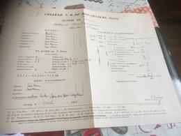 1904-1905 JERSEY COLLÈGE N.D DE BON SECOURS Diplôme - Diplômes & Bulletins Scolaires
