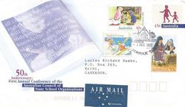 Australia 1997 Norfolk Kayak Canoe Christmas School Children Postal Stationary Cover To Cameroon - Postwaardestukken
