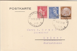 France Lorraine Carte Lutzelbourg 1940 - Alsace Lorraine
