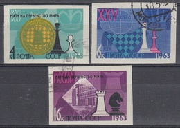 URSS / RUSIA 1963 Nº 2669/2671 USADO SIN DENTAR - 1923-1991 URSS