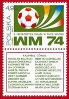 Polonia. Poland. 1974. Mi 2328. World Cup Soccer Championship, Munich - Copa Mundial