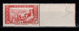 Andorre - YV 81 N** Cote 3 Euros - Neufs