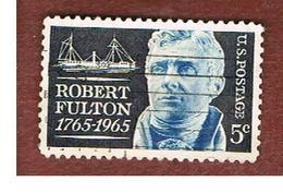 STATI UNITI (U.S.A.) - SG 1252 - 1965  R. FULTON, INVENTOR     - USED° - Usati
