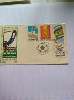 Uruguay Football Gold Cup 1980 SET Days Of Issue Fdc Of Cpl Set Uruguay Vs Holland 30 Dec - Voetbal