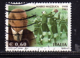 ITALIA REPUBBLICA ITALY REPUBLIC 2010 MARIO MAZZUCA USATO USED OBLITERE' - 6. 1946-.. Republic