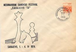 JUGOSLAVIA - SARAJEVO  1974  - SZACHOWY - TORNEO DI SCACCHI -  CHESS - Scacchi