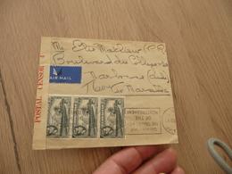Lettre Gilbraltar Postal Censor Censure Militaire 1940  3 TP Anciens Pour Narbonne - Gibraltar