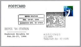 25 Años HOMBRE EN LA LUNA - 25 Years MAN ON THE MOON. Hasbrouk Heights NJ 1994 - FDC & Conmemorativos