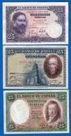 Espagne  5  Billets - [ 3] 1936-1975 : Régence De Franco