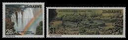 Simbabwe 1986 - Mi-Nr. 348-349 ** - MNH - Natur - Zimbabwe (1980-...)