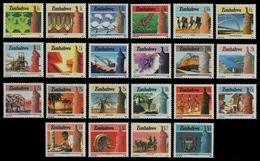 Simbabwe 1985 - Mi-Nr. 309-330 ** - MNH - Freimarken / Definitives (II) - Zimbabwe (1980-...)
