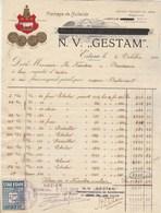 Pays Bas  Facture Illustrée 6/10/1921 N V GESTAM Fromage De Hollande EDAM - Timbre Fiscal Local - Pays-Bas