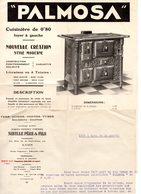 1 Feuillet Publicitaire Palmosa, Cuisinière. Sibille Père Et Fils à Lyon. + Lettre - France