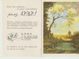 A. P. B. P. - CALENDRIER 1970 - ILLUSTRATION IDYLLE D'UN SOIR D'ETE PEINT AVEC LA BOUCHE PAR G. COLLINA - POUR VOS CADEA - Calendriers