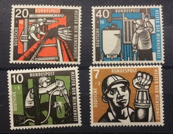 GERMANY 1957 HUMANITARIAN RELIEF FUND SG 1189-92 MNH - Unused Stamps