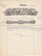 Pays Bas  Facture Illustrée 13/5/1927 A HOUTMAN Distillateurs  SCHIEDAM - Genièvre Pour St Pierre Et Miquelon - Pays-Bas