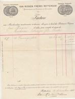 Pays Bas Facture Illustrée 12/12/1905 VAN ROSSEM Fromage De Hollande ROTTERDAM - Pays-Bas