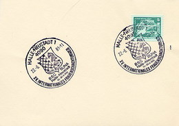 GERMANIA DDR - HALLE NEUSTADT  1981  -  SCHAFT - SZACHOWY - TORNEO DI SCACCHI -  CHESS - Scacchi