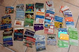 LOT DE 113 TELECARTES PREPAYEES DU MONDE - Télécartes