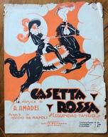 """SPARTITO MUSICALE VINTAGE CASETTA ROSSA  LEGGENDA-TANGO DI A.AMADEI DIS.INNO""""CENZI"""" ED.BELTRAMO S.REMO - Musica Popolare"""