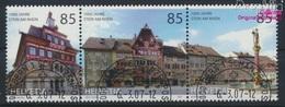 Schweiz 1994-1996 Dreierstreifen (kompl.Ausg.) Gestempelt 2007 1000 Jahre Stein Am Rhein (9286403 - Gebruikt