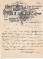Pays Bas Facture Lettre Illustrée 31/10/1910 H HELLEBREKERS & ZONEN Distilleerderij ROTTERDAM - Distillerie - Pays-Bas