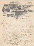 Pays Bas Facture Lettre Illustrée 27/8/1910 H HELLEBREKERS & ZONEN Distilleerderij ROTTERDAM - Distillerie - Pays-Bas