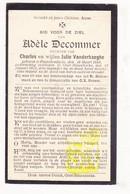 DP Adèle Decommer / Vanderhaeghe ° Passendale Zonnebeke 1889 † Oostnieuwkerke Staden 1922 - Images Religieuses