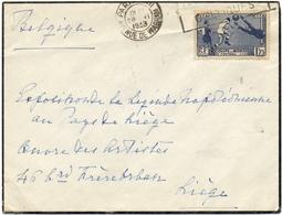 N° 396 Coupe Du Monde De Foot 1938 - Storia Postale