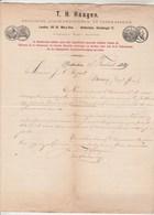 Pays Bas Facture Lettre Illustrée 27/2/1889 T H HAAGEN Engelsche Stoom Drijfriemen En Leder Fabriek ROTTERDAM - Cuir - Pays-Bas